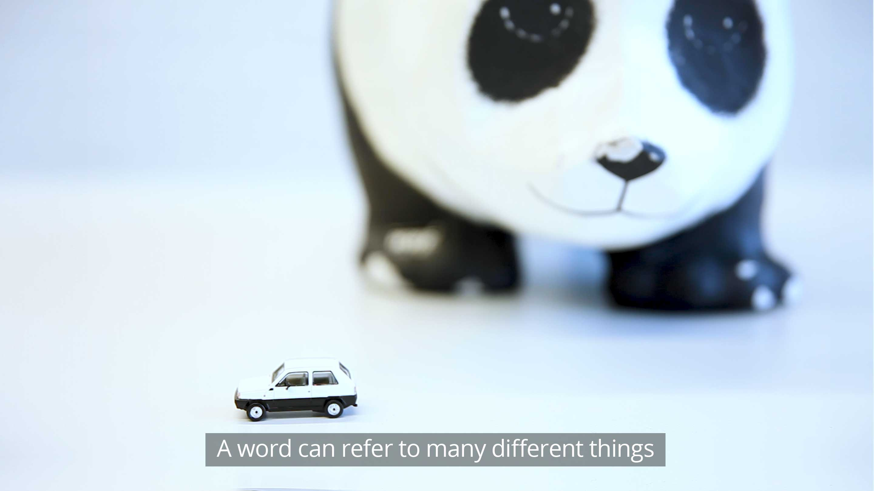 A word can refer to many different things