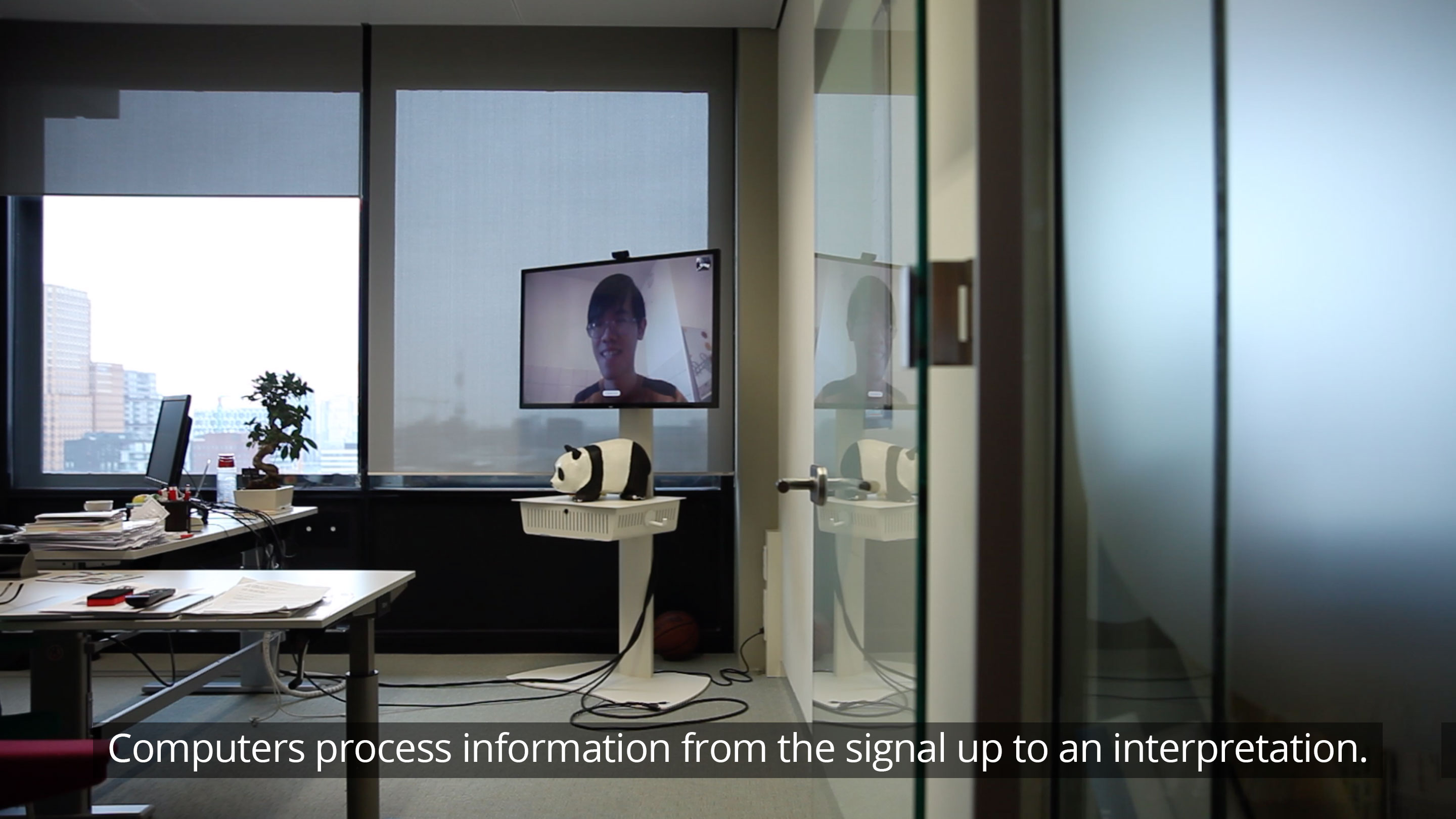 Computers process information from the signal up to an interpretation.