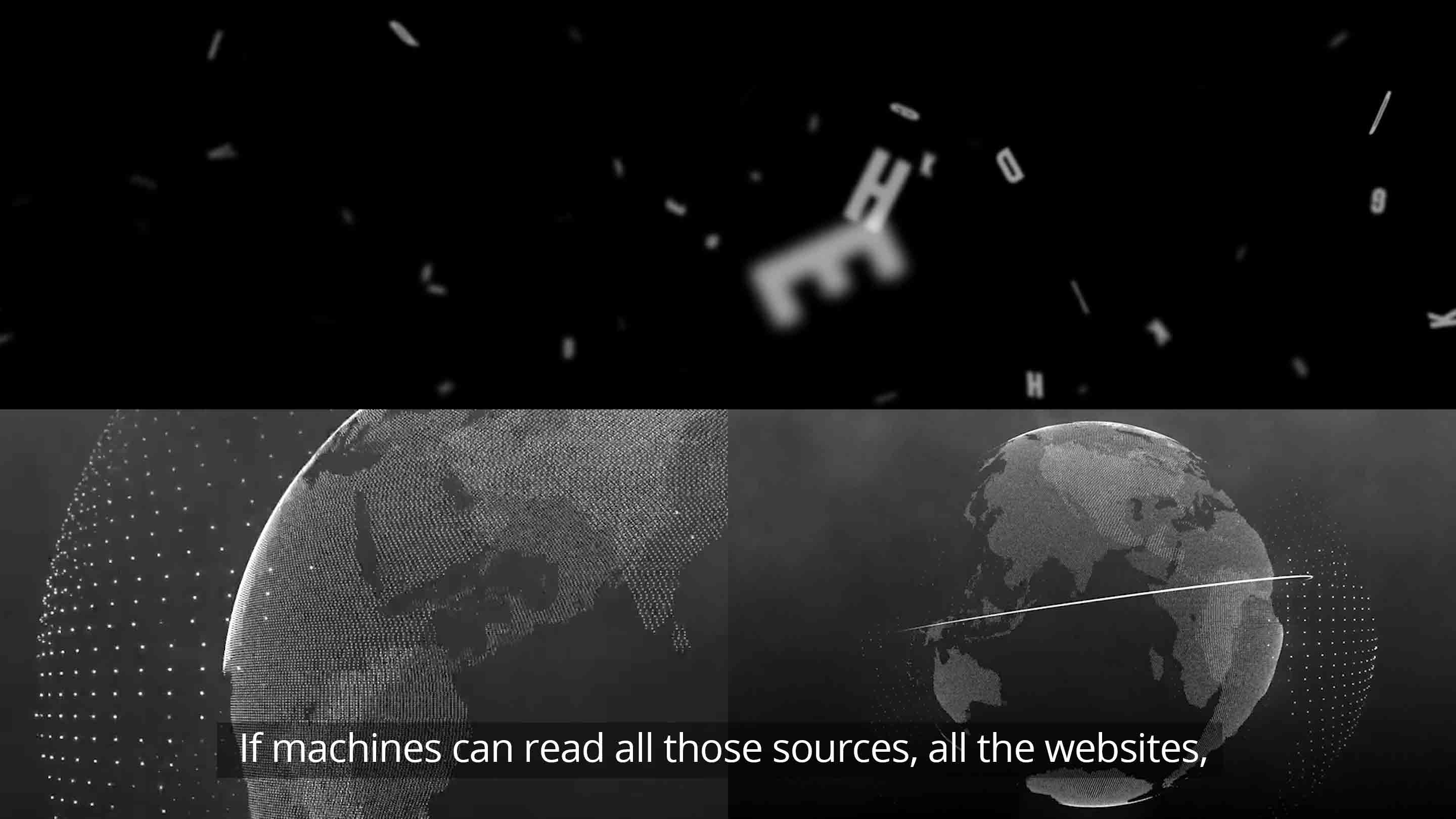 If machines can read all those sources, all the websites