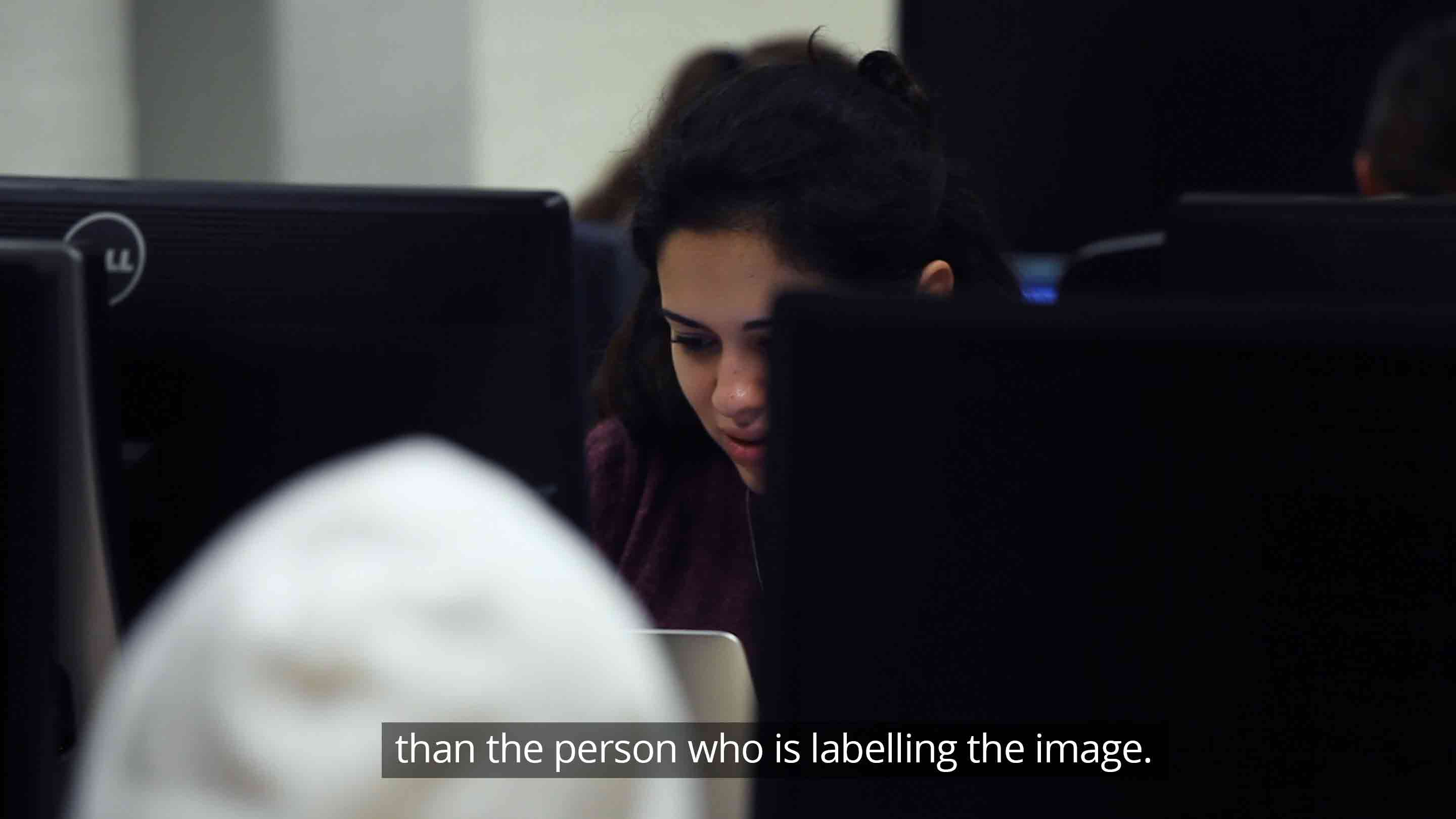 than the person who's labelling the image.